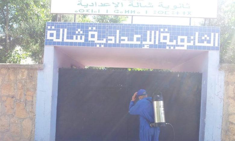 تعقيم المؤسسات التعليمية بجماعة سلا تمهيدا لامتحانات الباكالوريا