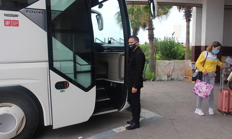 آلحافلات تستأنف نشاطها بالمحطة الطرقية لآسفي وسط حذر شديد