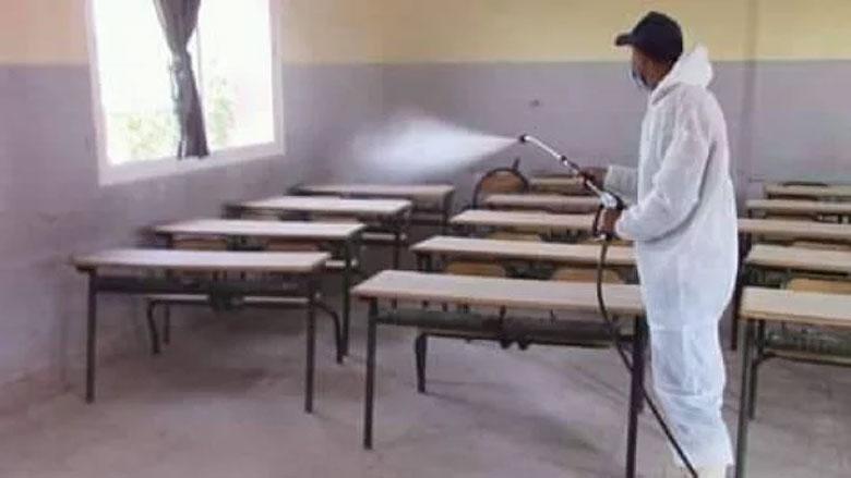 تواصل عمليات تعقيم المؤسسات التعليمية لاستقبال التلاميذ في ظروف صحية آمنة