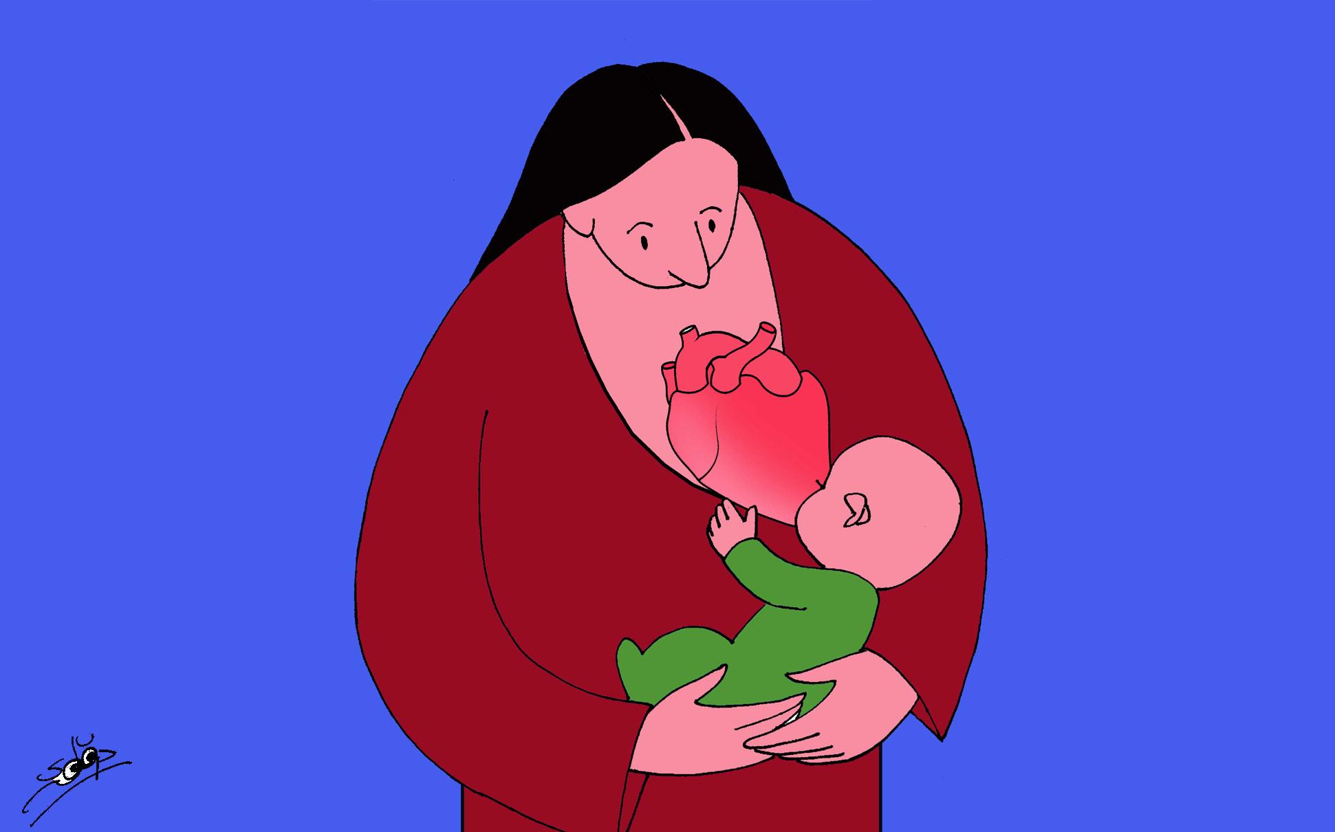 قلب الأم