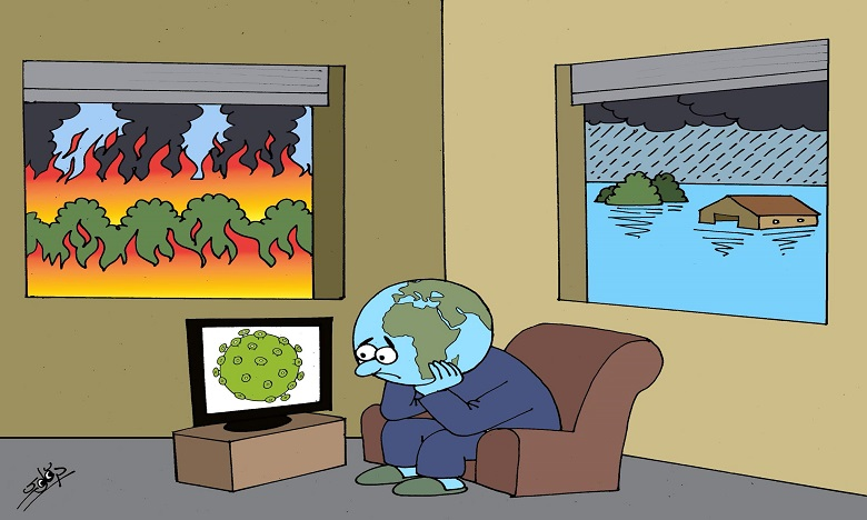 فيضانات حرائق ووباء