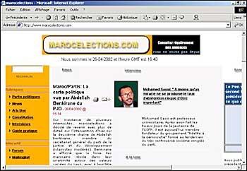 Un site Internet dédié aux élections