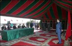 S.M. le Roi préside la signature d'une convention sur le dédoublement de la route Essaouira-autoroute Marrakech-Agadir