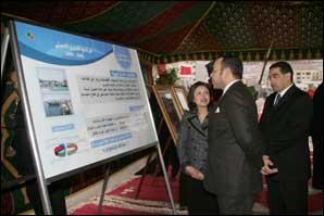S.M. le Roi s'enquiert du programme de développement global de la préfecture de M'diq-Fnideq