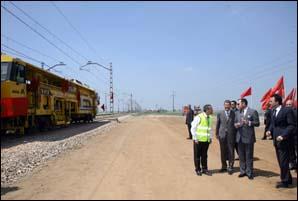 S.M. le Roi lance les travaux de doublement de la voie ferrée entre Nouaceur-Jorf Lasfar et Sidi El Aïdi-Settat