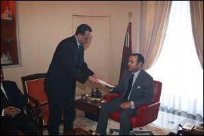 S.M. Mohammed VI reçoit le ministre mauritanien des Affaires étrangères et de la Coopération