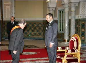S.M. le Roi Mohammed VI reçoit l'ambassadeur d'Italie à Rabat