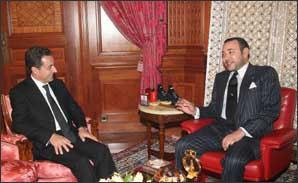 S.M. le Roi reçoit le ministre français de l'Intérieur