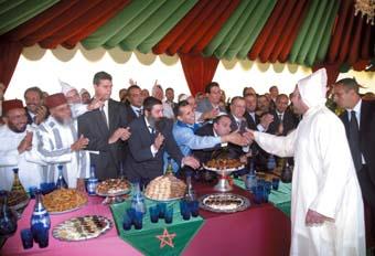 Le Souverain préside une réception à Tanger