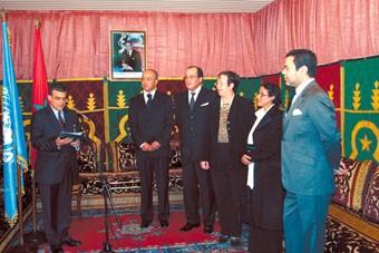 S.A.R. le Prince Moulay Rachid préside à Rabat la cérémonie de la Journée des 110ns unies au Maroc
