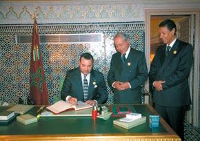 S.M. le Roi reçoit le premier président de la Cour suprême et le procureur général du Roi près cette Cour