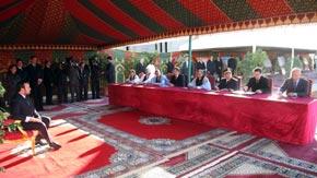 Le Souverain préside la signature d'une convention de mise à niveau urbaine de Assa et Assa-Zag au coût de 180.549.000 MDH