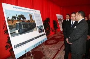 S.M. le Roi a lancé les travaux de mise en place de la plateforme du tramway Rabat-Salé