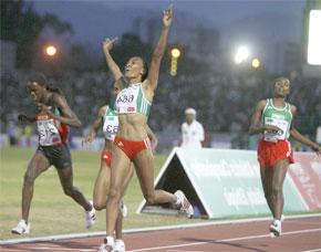 Grande victoire pour Meselech Melkamu aux 16es championnats d'Afrique d'athlétisme. (Photo : sports.yahoo.com)