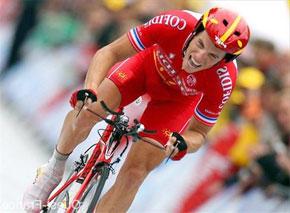 Sylvain Chavanel (Cofidis), double vainqueur de l'épreuve (2002, 2004), est l'un des prétendants les plus sérieux au titre. (Photo : www.ouest-france.fr)