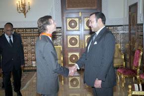 S.M. le Roi Mohammed VI reçoit l'ambassadeur d'Allemagne au Maroc