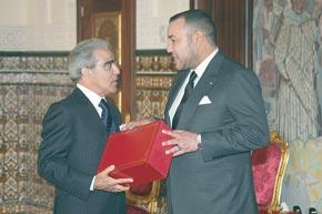 S.M. le Roi reçoit le wali de Bank Al-Maghrib