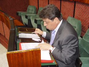 Ahmed Toufiq Hejira, ministre de l'Habitat, de l'Urbanisme et de l'Aménagement de l'Espace. (Photo : kartouch)