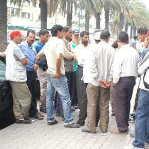 Des centaines d'ouvriers en colère