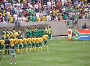 Les Bafana Bafana d'Afrique du Sud. (Photo : www.geocities.com)