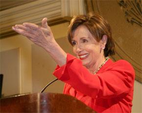 La Présidente de la Chambre, Nancy Pelosi. (Photo : www.imow.org)