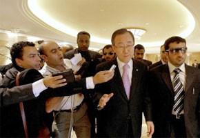 Visite du  secrétaire général de l'Onu