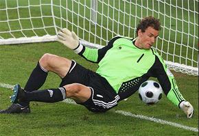 L'ancien gardien de but de l'équipe d'Allemagne, Jens Lehmann, a prolongé son contrat avec Stuttgart d'une saison, jusqu'en 2010. (Photo : news.bbc.co.uk)