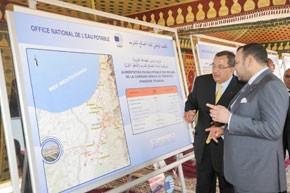 S.M. le Roi inaugure et lance plusieurs projets d'alimentation en eau potable dans la province de Nador d'un coût de 102 MDH