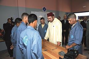 S.M. le Roi inaugure à Marrakech le Centre de formation de la Maison carcérale et le centre de sauvegarde de l'enfance