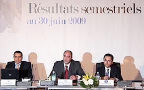 Le P.-D.G. du groupe Mouatassim Belghazi, présentait à la presse les résultats semestriels du Groupe pour l'année en cours. (Photo : MAP)