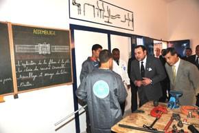 S.M. le Roi inaugure un Centre de formation professionnelle à la maison carcérale d'Errachidia