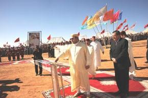 S.M. le Roi inaugure et lance des projets d'alimentation en eau potable de plusieurs communes d'Errachidia, Midelt et Tinghir