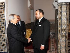 S.M. le Roi reçoit le vice-président syrien