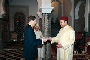 S.M. le Roi reçoit plusieurs nouveaux ambassadeurs étrangers
