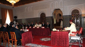 Le Souverain préside un Conseil des ministres