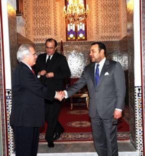 S.M. le Roi reçoit M. Christopher Ross, l'envoyé personnel du S.G. de l'ONU
