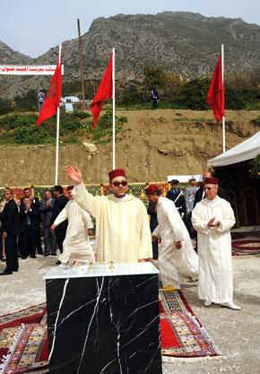 Le Souverain pose à Chefchaouen la première pierre d'un complexe administratif des Habous