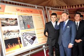 Le Souverain examine l'état d'avancement de plusieurs projets relatifs à la réhabilitation et la mise à niveau urbaine  d'Oujda pour un coût global de plus de 3 milliards de DH