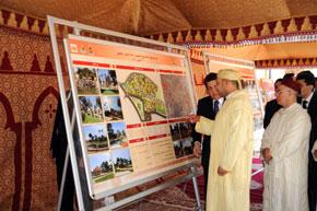 S.M. le Roi inaugure l'espace récréatif de l'oasis de Sidi Yahya à Oujda après réaménagement, pour un coût de 72 millions de DH