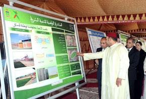 S.M. le Roi Mohammed VI examine les programmes de l'INDH dans la province de Berkane, d'un coût global de plus de 87 MDH