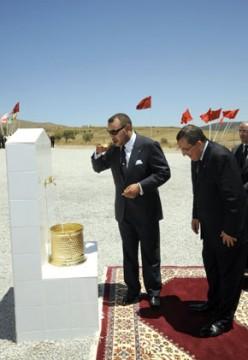 S.M. le Roi inaugure et lance des projets d'alimentation en eau potable des provinces de Nador et Driouch d'un coût global de 147 MDH