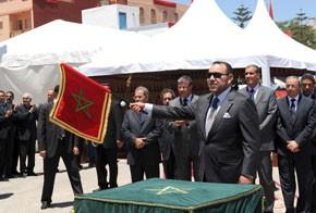 S.M. le Roi Mohammed VI lance le projet de protection de la ville de Bni Ansar contre les inondations, d'un coût de 85 millions DH