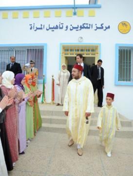 S.M. le Roi inaugure deux centres sociaux dans la commune d'Izemmouren à Al Hoceïma, d'un coût global de 3,5 MDH