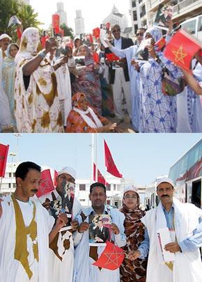 Pour défendre l'intégrité territoriale du Maroc, un message clair lancé aux ennemis de l'intégrité territoriale, leur signalant que les Marocains, du Nord au Sud, sont mobilisés derrière S.M. le Roi Mohammed VI. (Photo : MAP)