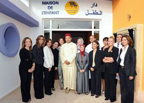 S.M. le Roi inaugure la Maison de l'enfant du CHU de Casablanca, réalisée pour un investissement de 3,5 MDH