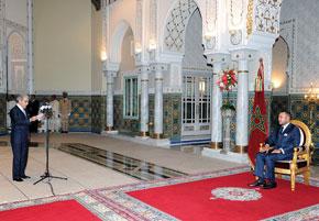 S.M. le Roi Mohammed VI reçoit wali Bank Al-Maghrib