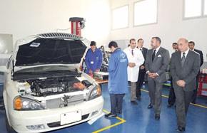 S.M. le Roi inaugure à Casablanca l'Institut spécialisé de technologie appliquée Sidi Moumen, réalisé pour un coût de 31 MDH