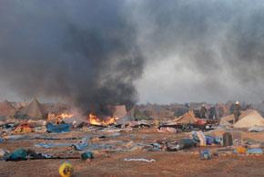 Soixante-sept personnes accusées d'implication dans les évènements de Laâyoune présentées devant le parquet. (Photo : AFP)