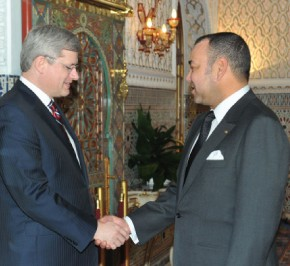 S.M. le Roi reçoit le Premier ministre canadien