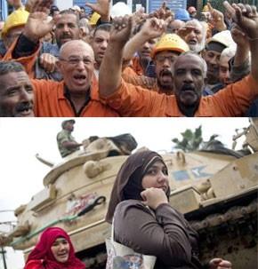 Les grèves se poursuivent en Egypte